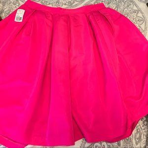 Hot pink a-line skater skirt